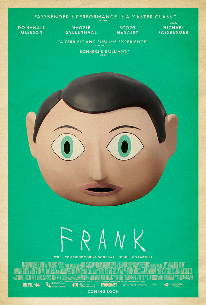 Frank (Official Movie Site) - A Film by Lenny Abrahamson - Starring  Domhnall Gleeson, Maggie Gyllenhaal, Scoot McNairy and Michael Fassbender -  Available on ...